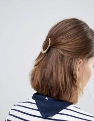 Orelia Pearl Cresent Hair Clip - Gold