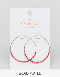 Orelia Seedbead Hoop Earrings - Gold