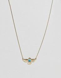 Orelia Semi Precious Eagle Pendant Necklace in Gold - Gold
