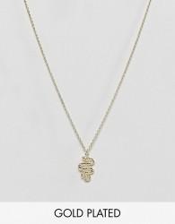 Orelia Snake Ditsy Necklace - Gold