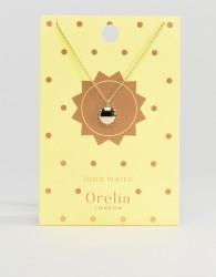 Orelia Sun Pendant Necklace in Gold - Gold