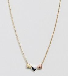 Orelia Three Little Hearts Necklace - Gold