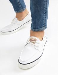 Original Penguin Boat Shoes In White - White