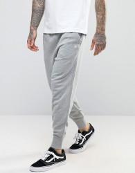 Original Penguin Cuffed Jogger Slim Fit Small Logo in Grey - Grey