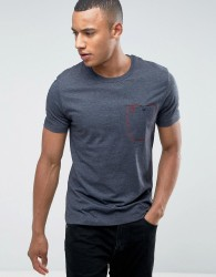 Original Penguin Flat Lock Pocket T-Shirt - Navy