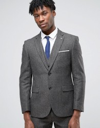 Original Penguin Formal Brown Herringbone Suit Jacket - Brown