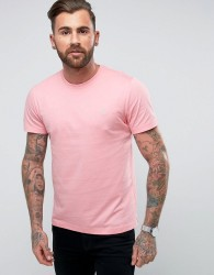 Original Penguin Pin Point T-Shirt Small Logo Slim Fit in Pink - Pink