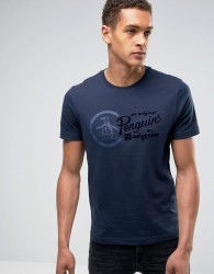 Original Penguin Script Logo T-Shirt - Navy