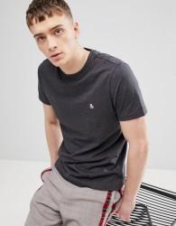 Original Penguin Small Logo T-Shirt Slim Fit in Charcoal - Grey