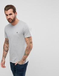 Original Penguin Small Logo T-Shirt Slim Fit in Grey Marl - Grey