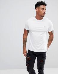 Original Penguin Small Logo T-Shirt Slim Fit in White - White