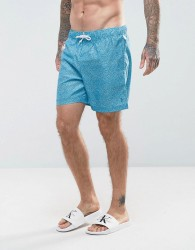 Original Penguin Swim Shorts Floral Print in Blue - Blue