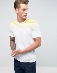 Original Penguin T-Shirt Gradient Stripe Slim Fit in White - White