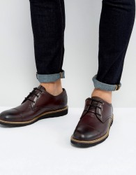 Original Penguin Toe Cap Derby Shoes in Bordo - Red