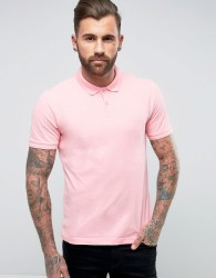 Original Penguin Winston Polo Pique Small Logo Slim Fit in Pink - Pink