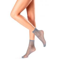 Oroblu Demi-Bas Regular Fishnet Socks - Lightblue * Kampagne *