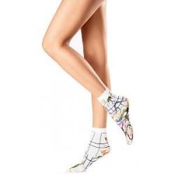 Oroblu Flower Picture Socks - White Pattern-2 * Kampagne *