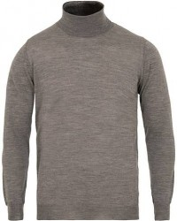 Oscar Jacobson Cole Extra Fine Merino Rollneck Light Grey men L