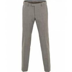 Oscar Jacobson Damien Wool Barberis Super 110 Trousers Light Grey