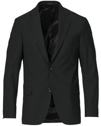 Oscar Jacobson Edmund Blazer Super 120´s Wool Black men 54 Sort