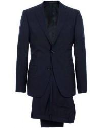 Oscar Jacobson Edmund Suit Super 120's Wool Navy men One size Blå