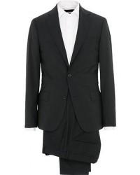 Oscar Jacobson Edmund Wool Suit Black & White Shirt men One size Sort