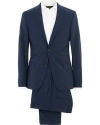 Oscar Jacobson Edmund Wool Suit Mid Blue & White Shirt men One size Blå