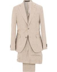 Oscar Jacobson Egel Linen Suit Beige men One size Beige