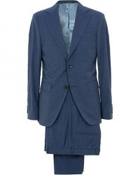 Oscar Jacobson Ego Wool Suit Blue men 54
