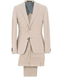 Oscar Jacobson Einar Cotton/Linen Herringbone Suit Beige men One size Beige