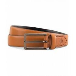 Oscar Jacobson Leather 2,5 cm Belt Mid Brown