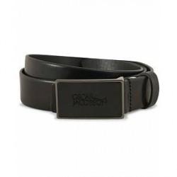 Oscar Jacobson Leather 3 cm Belt Black