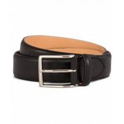 Oscar Jacobson Leather Belt 3,5 cm Black