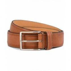 Oscar Jacobson Leather Belt 3,5 cm Brown