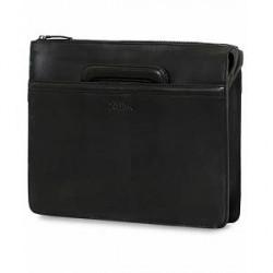 Oscar Jacobson Leather Briefolio Black