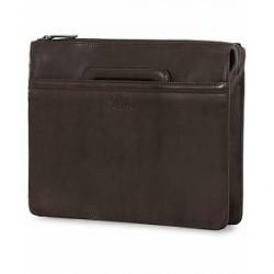 Oscar Jacobson Leather Briefolio Dark Brown