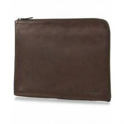 Oscar Jacobson Leather Portfolio Dark Brown