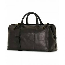 Oscar Jacobson Leather Weekendbag Black