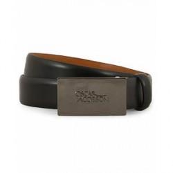 Oscar Jacobson Logo Plaited 3,0 cm Belt Black