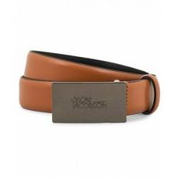 Oscar Jacobson Plain Logo Belt 3 cm Tan