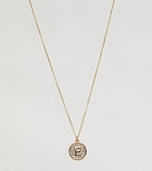 Ottoman Hands gold plated E initial pendant necklace - Gold