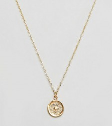 Ottoman Hands gold plated sun disc pendant necklace - Gold