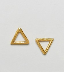 Ottoman Hands Open Triangle Stud Earrings - Gold