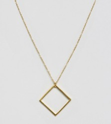 Ottoman Hands Square Pendant Necklace - Gold