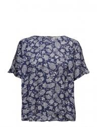Paisley Blouse Blue Indigo