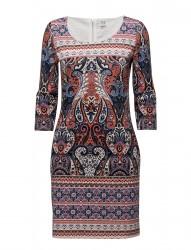 Paisley Printed Jersey Dress