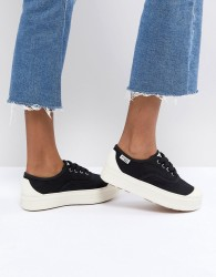 Palladium SUB Black Textile Flatform Trainers - Black