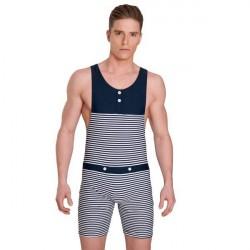 Panos Emporio Tyfon Mens Swimsuit - Navy Striped * Kampagne *