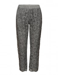 Pants W. Lace And Leopard Stribe