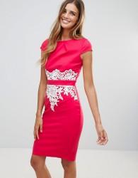Paper Dolls Lace Detail Dress - Pink